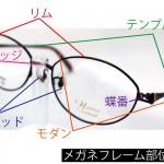 メガネの部位名称まとめ!リムやモダンなどフレーム選びに役立つメガネのパーツ名称