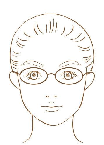 メガネサイズ参考画像